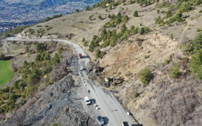 Double glissement de terrain Les Orres (Hautes Alpes)